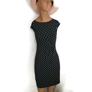 Loft Eyelet Pattern Midi Dress XSP